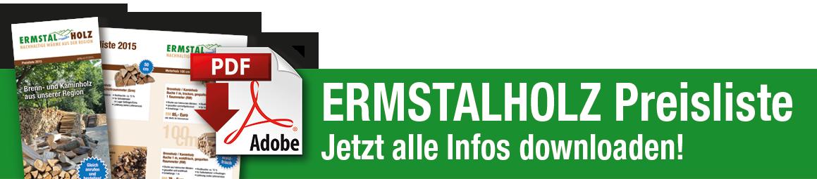 Downloadbild zur Preisliste von Ermstalholz